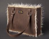 "Woman's Handmade Leather Handbag Purse ""LOVE"""