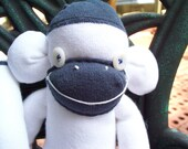 Happy, The Gray & White Sock Monkey