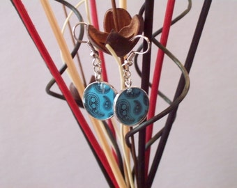 Turquoise Paisley Earrings--Holiday Fashion