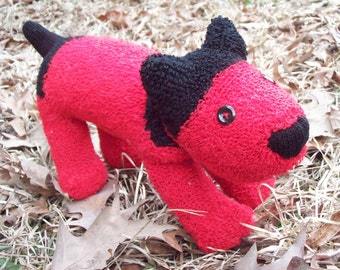 SAM -- The Handsome Handmade Red Sock Dog --OOAK