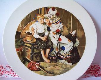 "Vintage Handmade ""The Runaway"" Norman Rockwell Plate"