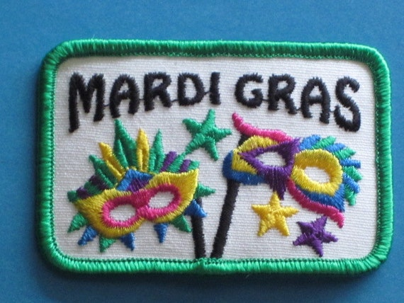 Very colorful MARDI GRAS PATCH possibly Girl Scout