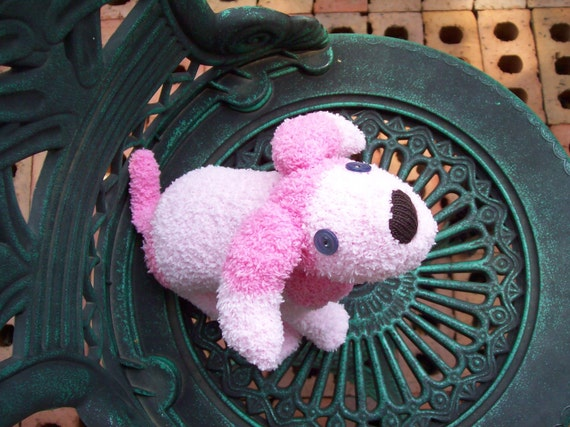 Trixie the Handmade Pink Sock Poodle