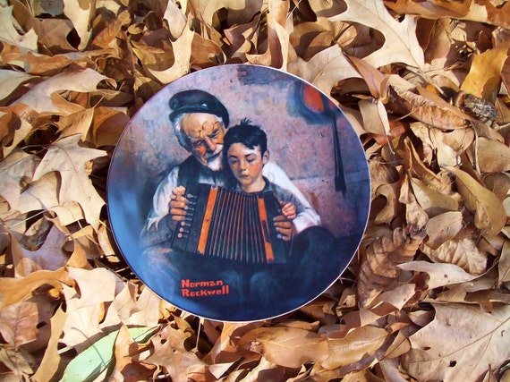 Vintage Norman Rockwell --The Music Maker--  Plate from 1981