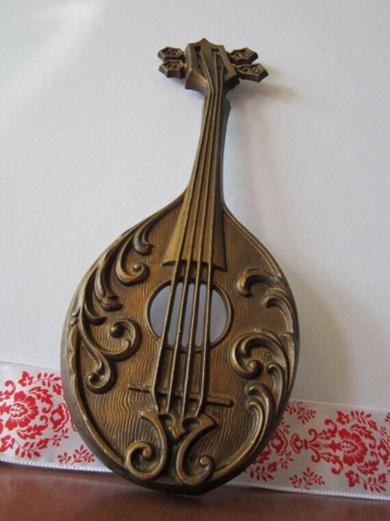 Reserved for Matt :) Vintage Sexton Mandolin/Violin Wall Hanging from 1975
