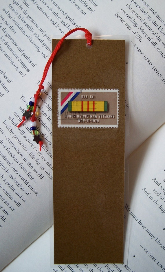 Vietnam Veteran Book Mark