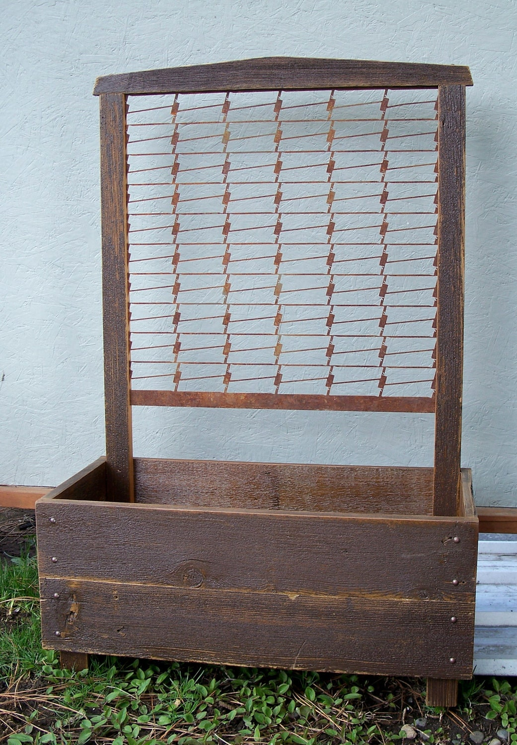 Spring Sale Planter Box Rustic Hand Crafted Wood By
