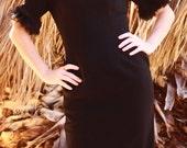 60s Black Cocktail Dress