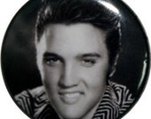 """ELVIS 1"""" pinback button or fridge magnet from Nasty Buttons"""