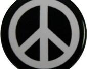 "Peace sign, original 60's design on a 1"" round button (#65)"