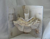 RESERVED Assemblage Art Dress Made From Paper and Fabric -  A Stolen Moment
