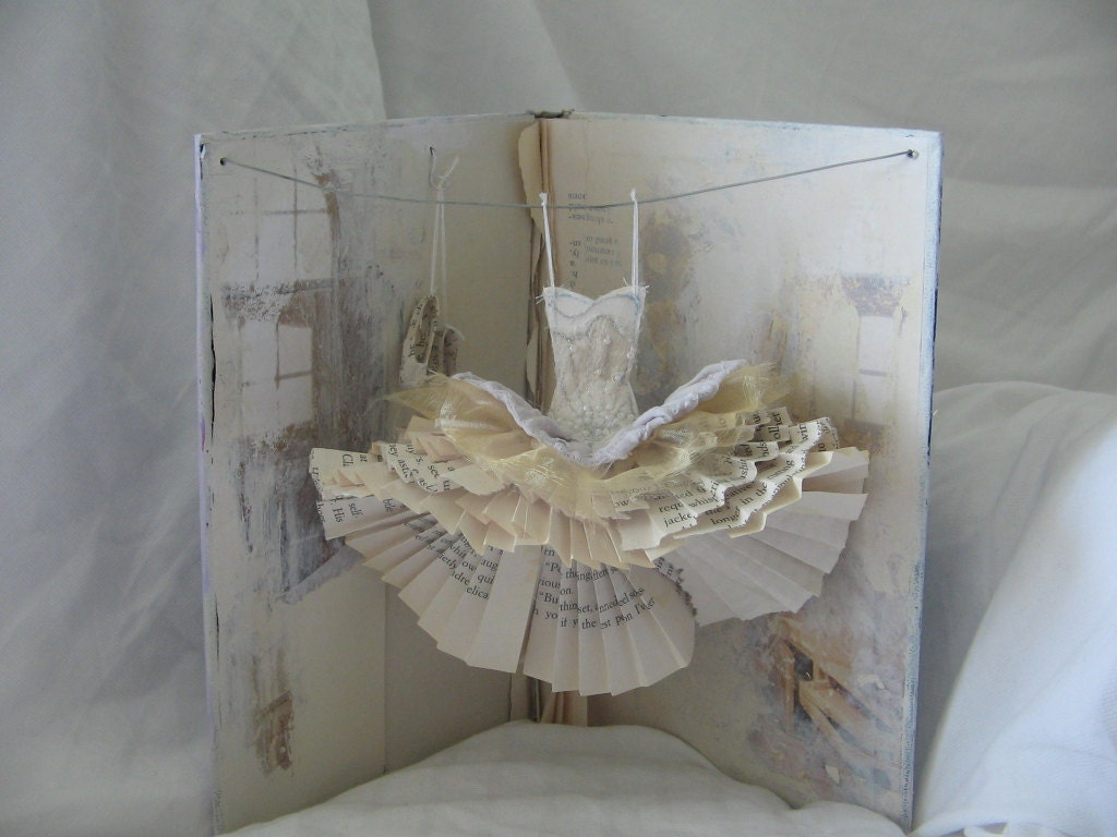 Anderson Windows Reviews >> RESERVED Assemblage Art Dress Made From Paper and Fabric A