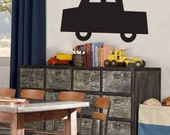 Toy Car Chalkboard Wall Art Decal