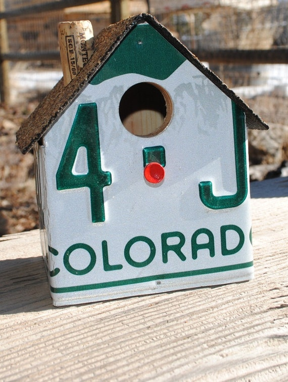 Small Colorado License Plate Birdhouse