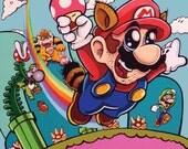 Super Shroomin Mario 8x10 Print