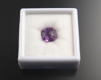 Natural Amethyst Cushion-cut checkerboard  loose stone Faceted