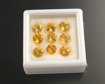 Faceted Citrine rounds, 5 mm, Parcel