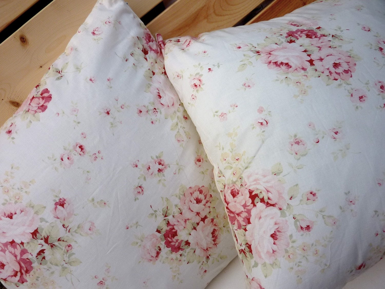 White Shabby Chic Pillow Cases : Shabby chic Flower white Pillow cover pillow case 4 pieces of