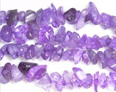 Top Offer Amethyst Chips 5x8mm Bead Semiprecious Gemstone Bead String 35''L - 15''L Jewelry Supply Wholesale Beads