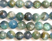 "6mm Round Kyanite Semiprecious Gemstone Bead String 15""l"