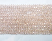 2x3mm Rondelle Cut Czech Glass Pink A Grade Beading 15''L Semiprecious Gemstone  Jewelry Supply Wholesale Beads