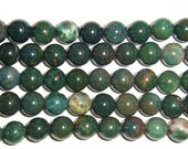 6mm/8mm/10mm/12mm Round Bloodstone Green Bead Semiprecious Gemstone Bead String Beading 15''L Jewelry Supply Wholesale Beads