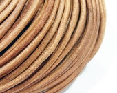 Leather Cord 3mm Genuine Light Brown String Jewelry Making - 3570 - Wholesale Leather Cord