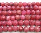 4mm/6mm/12mm Round Rhodochrosite Bead Semiprecious Gemstone Bead Strand Wholesale Beads - 15''L Jewelry Supply Wholesale Beads