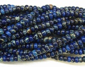 "Sea Sediment Imperial Jasper Beads 6mm Rondelle Loose Beads Semiprecious Gemstone 15""L 15""L Blue- 4545 Wholesale Beads"