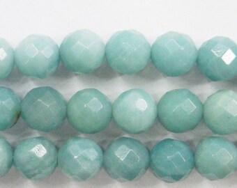 Amazonite Beads 4 mm/6mm/8mm/10mm/12mm Round Cut Semiprecious Gemstone Bead Dark Beading 15''L Jewelry Supply Wholesale Beads