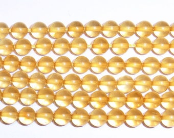 5 mm Round Amber AAA Grade Beading 15''L Semiprecious Gemstone  Jewelry Supply Wholesale Beads