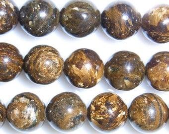 4mm Round Bronzite Bead Semiprecious Gemstone Bead String Beading 15''L Jewelry Supply Wholesale Beads