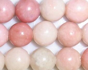 8mm Round Pink Opal Bead Semiprecious Gemstone Bead - 15''L Jewelry Supply Wholesale Beads