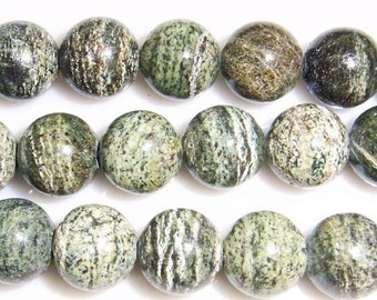 12mm Round Opal Green Bead Semiprecious Gemstone Bead String Beading 15''L Jewelry Supply Wholesale Beads