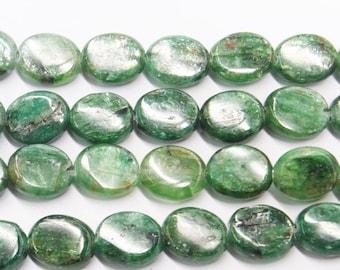 "Kyanite Beads Genuine 8X10mm Oval Green  Semiprecious Gemstone 15""L Bead Wholesale Beads"