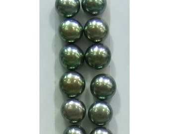 5-5.5mm Button Peacock Freshwater Pearl Loose 6x Pair Wholesale Pearls