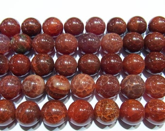 Agate Beads Fire Stripe Colorful Crackled 4mm Round 15''L Natural Genuine Semiprecious Gemstone Bead Wholesale Beads