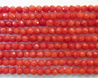 Coral Natural Genuine Loose Beads 2mm Round Cut Red  15 inches length, 38 cm- Wholesale Coral