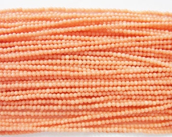 Coral Natural Genuine Loose Beads 2-2.5mm Round Orange  15 inches length, 38 cm - Wholesale Coral