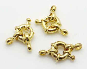 Jewelry Clasp 9mm Clasp Wheel Gold Tone 10 Loose Beads Wholesale Clasp Finding Bulk Jewelry Supply
