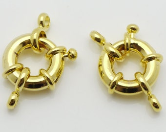 Jewelry Clasp 15mm Clasp Wheel Gold Tone 10 Loose Beads Wholesale Clasp Finding Bulk Jewelry Supply