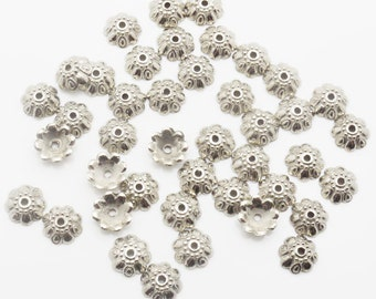 10mm 1000 Loose Beads Lot Silver Plated CCB Spacer Bead 1525 Wholesale Clasp Finding Bulk Jewelry Supply