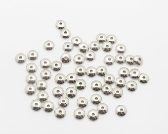 6mm 500 Loose Beads Lot Silver Plated CCB Spacer Bead 1528 Wholesale Clasp Finding Bulk Jewelry Supply