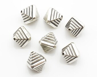 12x12mm 200pcs Lot Silver Plated CCB Spacer Bead 1209 Wholesale Spacer Bulk Accessory