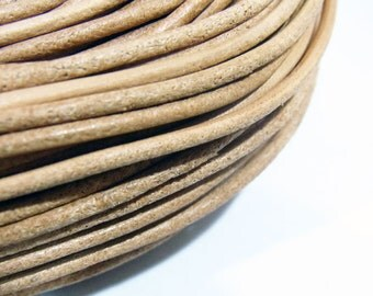 2mm Genuine Cow Leather Cord Untreated Natural ( not dyed )  String - 3649 - Wholesale Leather Cord