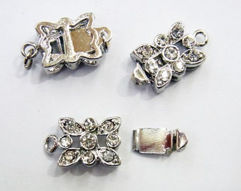 Jewelry Clasp 9x18mm Clasp Silver Tone  Lot 25  Loose Beads 3620 Wholesale Clasp Finding Bulk Jewelry Supply