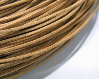 Leather Cord 1mm Genuine Natural Color String Jewelry Making - 4000 - Wholesale Leather Cord