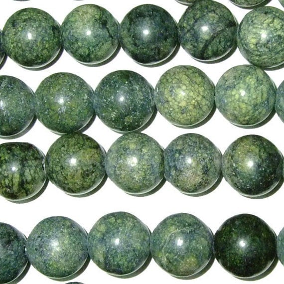 4mm 14mm Green Lace Agate Beads 15''L Natural