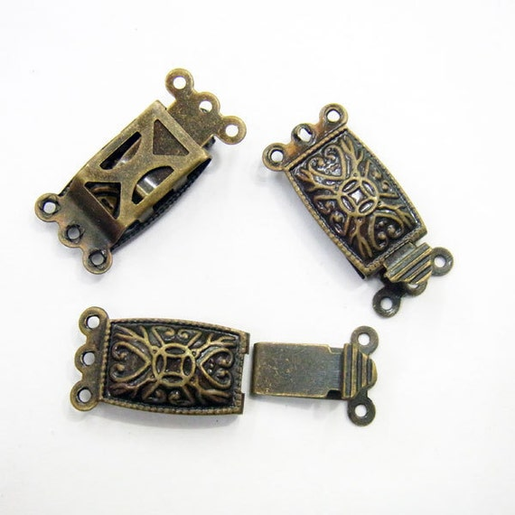 Jewelry Clasp 10x20mm Clasp Antique Brass  Lot 50  Loose Beads 3626 Wholesale Clasp Finding Bulk Jewelry Supply