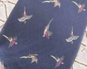 Vintage Kenneth Gordon Pheasent Bird Mens Tie